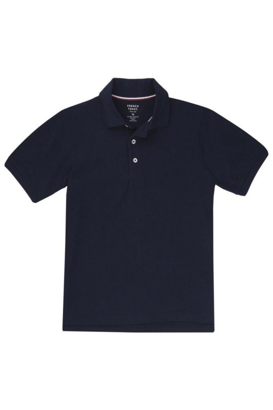 French Toast Short Sleeve Pique Polo Purple