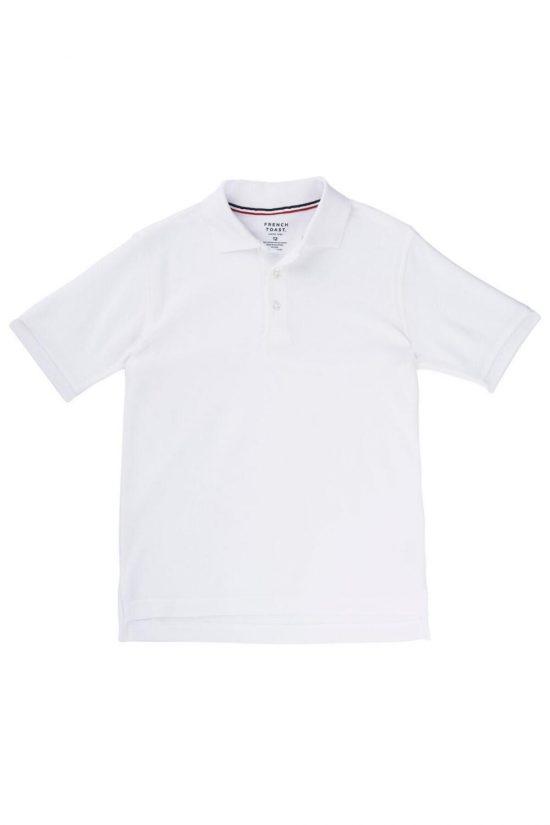 French Toast Short Sleeve Pique Polo White