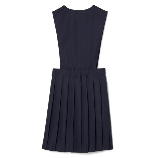v-neck pleated pinafore-back view